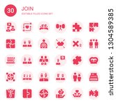 join icon set. collection of 30 ... | Shutterstock .eps vector #1304589385