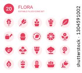 flora icon set. collection of... | Shutterstock .eps vector #1304591002
