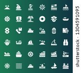 sailboat icon set. collection...   Shutterstock .eps vector #1304591095