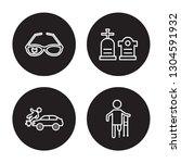 4 linear vector icon set  ... | Shutterstock .eps vector #1304591932