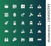 gourmet icon set. collection of ... | Shutterstock .eps vector #1304592595