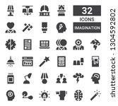 imagination icon set....   Shutterstock .eps vector #1304592802