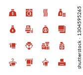 linen icon set. collection of... | Shutterstock .eps vector #1304595265