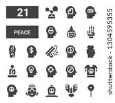 peace icon set. collection of... | Shutterstock .eps vector #1304595355