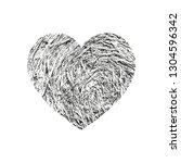 isolated distress grunge heart... | Shutterstock .eps vector #1304596342