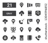 gray icon set. collection of 21 ...