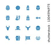 dead icon set. collection of 16 ... | Shutterstock .eps vector #1304596975