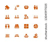 join icon set. collection of 16 ... | Shutterstock .eps vector #1304597035