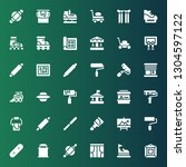 roller icon set. collection of... | Shutterstock .eps vector #1304597122