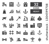 heavy icon set. collection of... | Shutterstock .eps vector #1304599708
