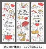 valentines day cupids and... | Shutterstock .eps vector #1304601382
