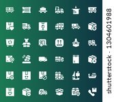 delivering icon set. collection ... | Shutterstock .eps vector #1304601988
