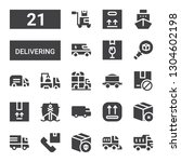 delivering icon set. collection ... | Shutterstock .eps vector #1304602198