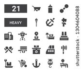 heavy icon set. collection of... | Shutterstock .eps vector #1304604088