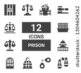 prison icon set. collection of... | Shutterstock .eps vector #1304604262