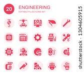 engineering icon set.... | Shutterstock .eps vector #1304605915
