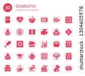 domestic icon set. collection... | Shutterstock .eps vector #1304605978