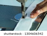sewing machine close up  ... | Shutterstock . vector #1304606542