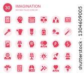 imagination icon set....   Shutterstock .eps vector #1304609005