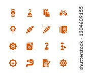gear icon set. collection of 16 ... | Shutterstock .eps vector #1304609155