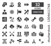 direction icon set. collection... | Shutterstock .eps vector #1304611768