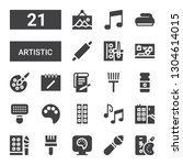 artistic icon set. collection... | Shutterstock .eps vector #1304614015