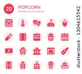 popcorn icon set. collection of ... | Shutterstock .eps vector #1304615542