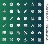 settings icon set. collection... | Shutterstock .eps vector #1304615548