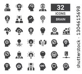 brain icon set. collection of... | Shutterstock .eps vector #1304615698