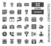 number icon set. collection of... | Shutterstock .eps vector #1304615752