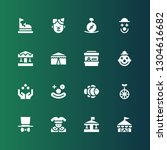 clown icon set. collection of... | Shutterstock .eps vector #1304616682