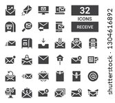 receive icon set. collection of ... | Shutterstock .eps vector #1304616892