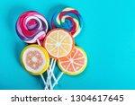 lollipops of different colors... | Shutterstock . vector #1304617645