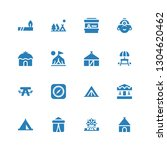 tent icon set. collection of 16 ... | Shutterstock .eps vector #1304620462