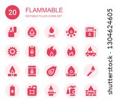 flammable icon set. collection... | Shutterstock .eps vector #1304624605