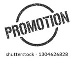 promotion black round stamp | Shutterstock .eps vector #1304626828