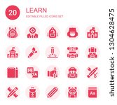 learn icon set. collection of...   Shutterstock .eps vector #1304628475