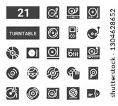 turntable icon set. collection... | Shutterstock .eps vector #1304628652