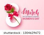 8 march happy women's day... | Shutterstock .eps vector #1304629672