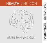 brain vector icon eps 10. | Shutterstock .eps vector #1304640142