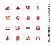 handshake icon set. collection... | Shutterstock .eps vector #1304643562