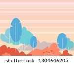fantasy landscape vector... | Shutterstock .eps vector #1304646205