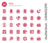 dial icon set. collection of 30 ... | Shutterstock .eps vector #1304652295