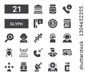 glyph icon set. collection of... | Shutterstock .eps vector #1304652355