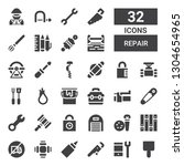 repair icon set. collection of...   Shutterstock .eps vector #1304654965