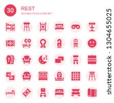 rest icon set. collection of 30 ... | Shutterstock .eps vector #1304655025