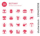 botany icon set. collection of... | Shutterstock .eps vector #1304655058