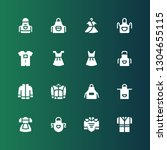 garment icon set. collection of ... | Shutterstock .eps vector #1304655115