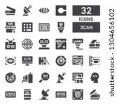 scan icon set. collection of 32 ... | Shutterstock .eps vector #1304656102