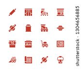 roller icon set. collection of... | Shutterstock .eps vector #1304656885